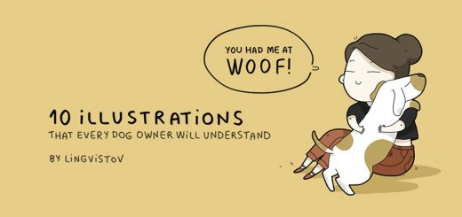 illustrations only dog owners understand- Ruffing it